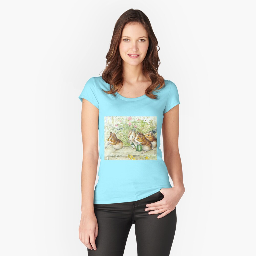 Guinea Pig Gardeners - Beatrix Potter Fitted Scoop T-Shirt