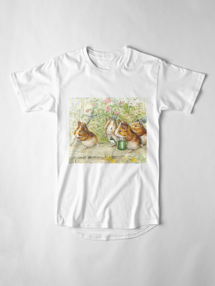 Alternate view of Guinea Pig Gardeners - Beatrix Potter Long T-Shirt
