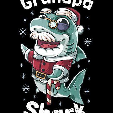 Grandpa Shark Christmas by B-Cubed-Shirts