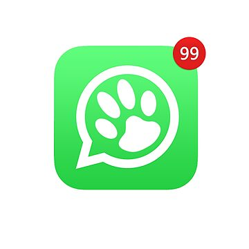 """Dog paw whatsapp message"" pet, dog by Kaiser-Designs"