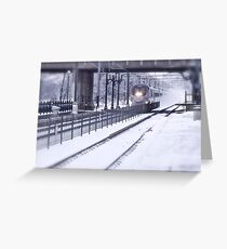 Acela Express Blowing Snow - Last Day of 2009 © featured Greeting Card