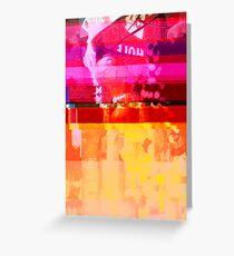 New York Glitch 11 Greeting Card