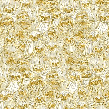 just sloths gold white by scrummy