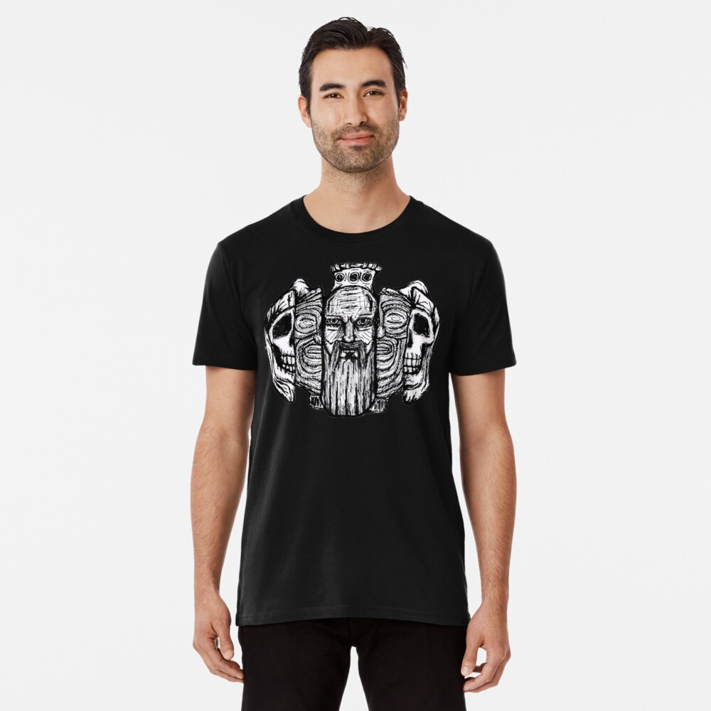 Beard life and death - sketch Men's Premium T-Shirt Front