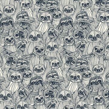 just sloths indigo pearl by scrummy