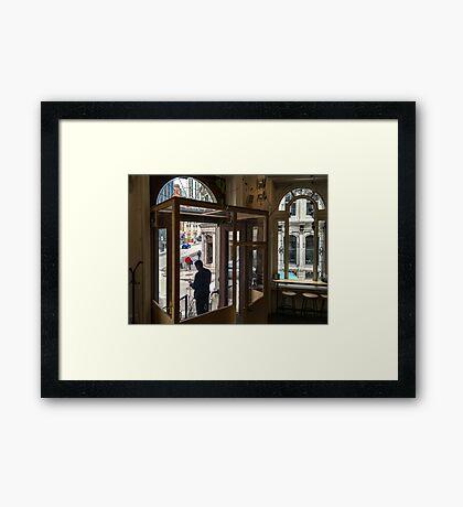 Cafe Windows Framed Print
