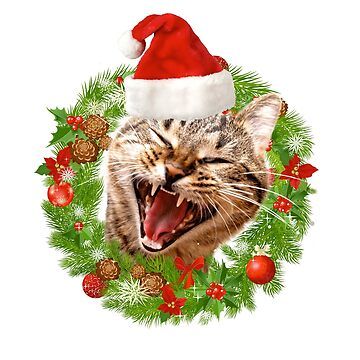 Crazy Christmas Cat by bucksworthy