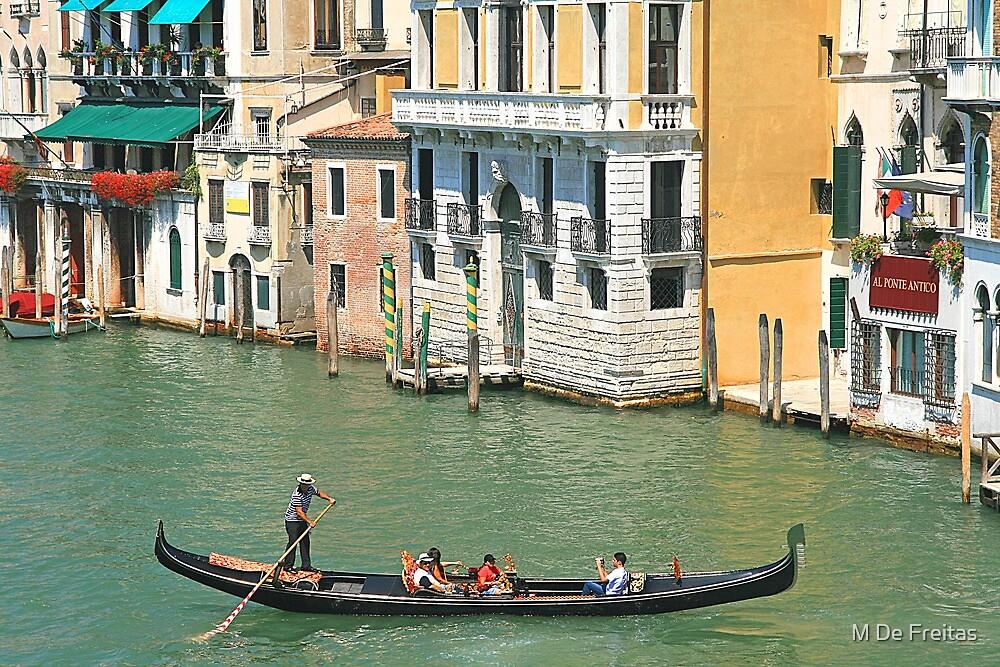 Venice Gondula by M De Freitas