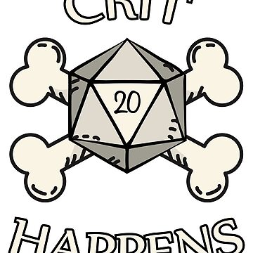 Crit Happens Lucky RPG D20 Dice by shadowisper