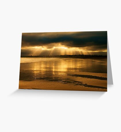 Donabate Strand in December Greeting Card