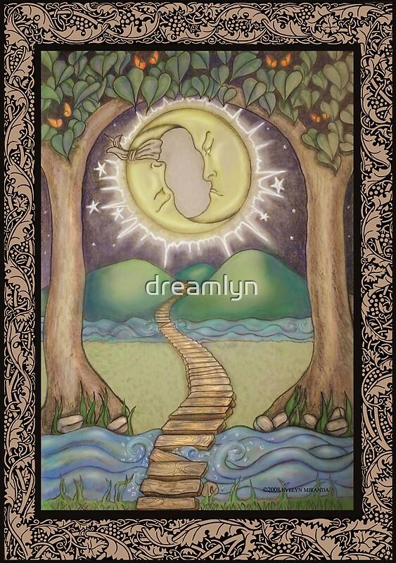 Quot The Moon Tarot Fantasy Card Quot By Dreamlyn Redbubble
