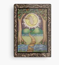 The Moon Tarot Fantasy Card Metal Print