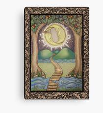 The Moon Tarot Fantasy Card Canvas Print
