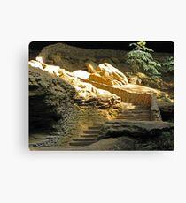 Golden Staircase Canvas Print