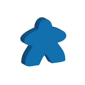 I Always Play with Blue Meeple Board Game Design by shadowisper
