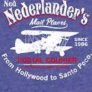 Ned Nederlander Mail Plane - Three Amigos by SykoGraphx