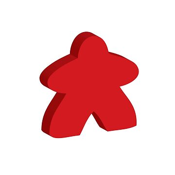 I Always Play with Red Meeple Board Game Design by shadowisper