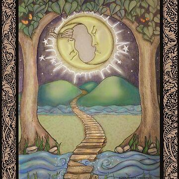 The Moon Tarot Fantasy Card by dreamlyn