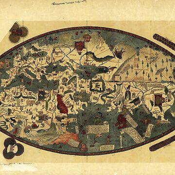 Genoese World Map (1457) by allhistory
