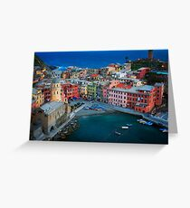 Vernazza Evening Greeting Card