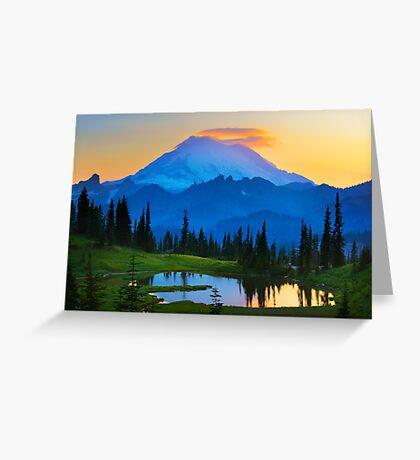 Mount Rainier Goodnight Greeting Card