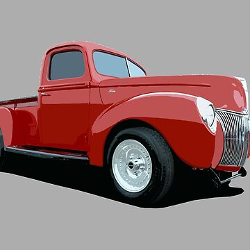 1940 Ford gasser - stylized color by mal-photography