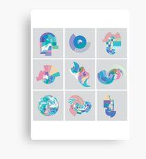 Pastel Pixel Grid swirls Canvas Print