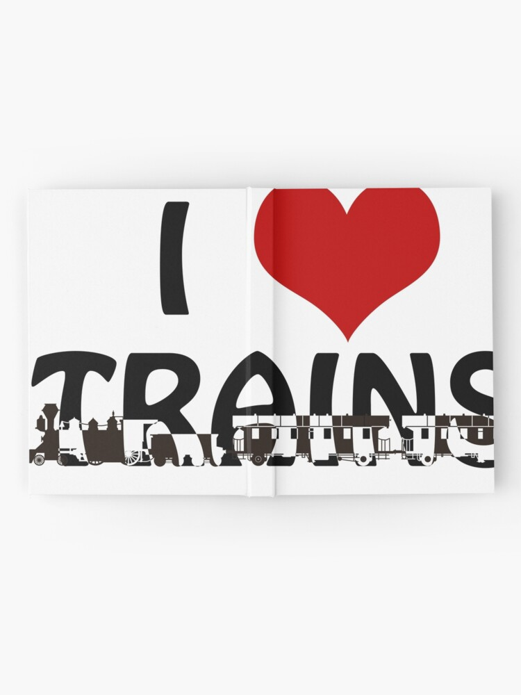 Alternate view of I love Trains Hardcover Journal