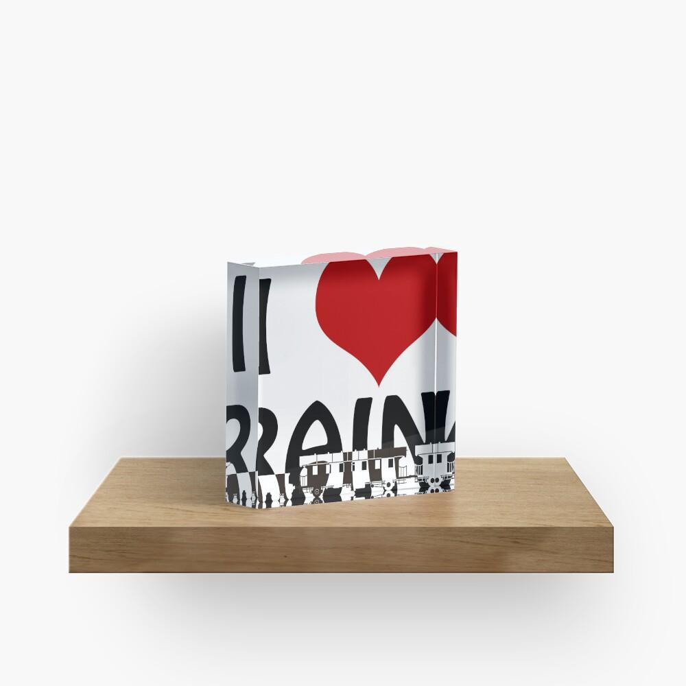 I love Trains Acrylic Block