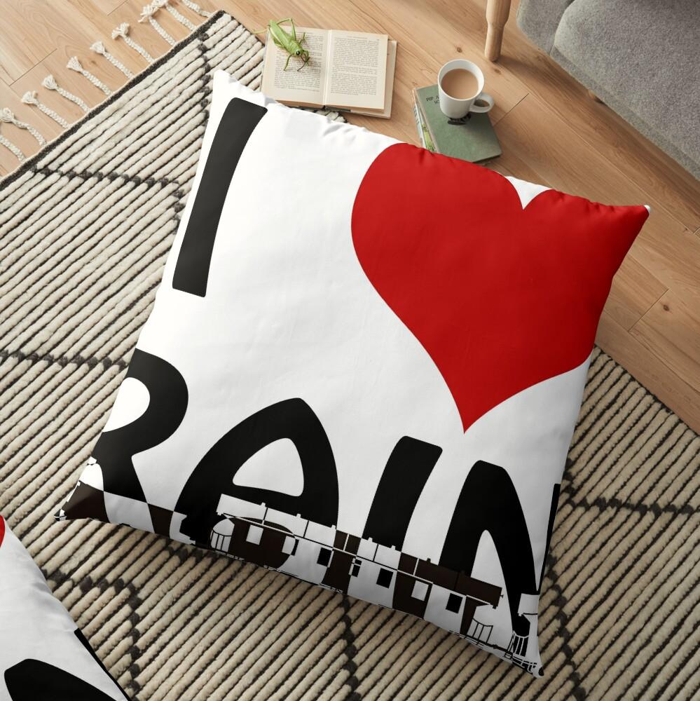 I love Trains Floor Pillow
