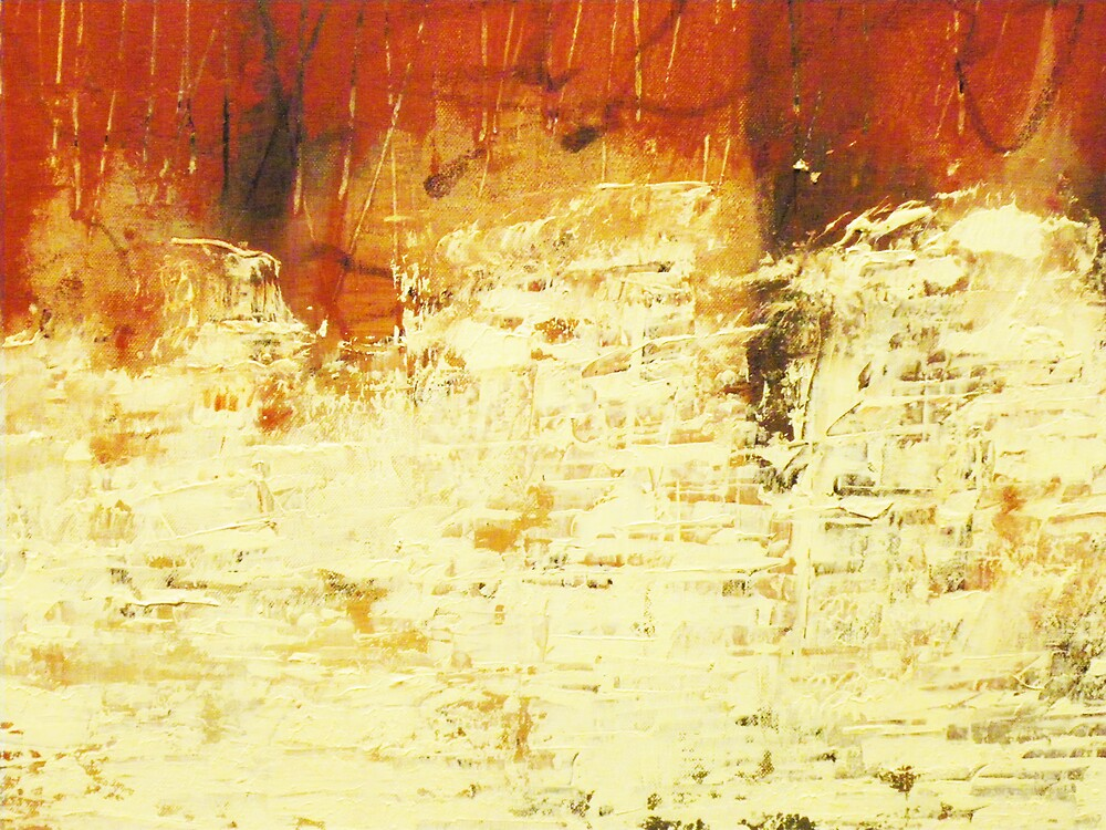 Venice Wall 2 - original acrylic abstract painting on panel by Marco Sivieri