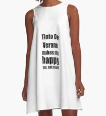 Tinto De Verano Cocktail Lover Funny Gift for Friend Alcohol Mixed Drink A-Line Dress