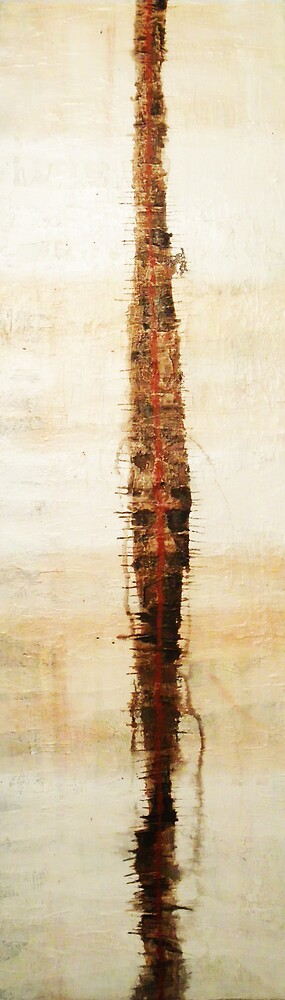 Fragile Tower - original mixed-media painting on canvas by Marco Sivieri