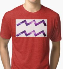 Aquarius, Cronus Ampora Space Texture Symbol Tri-blend T-Shirt