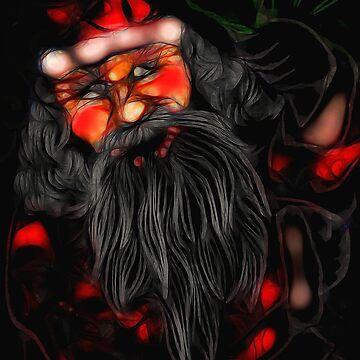 Santa Drawing by bloomingvine