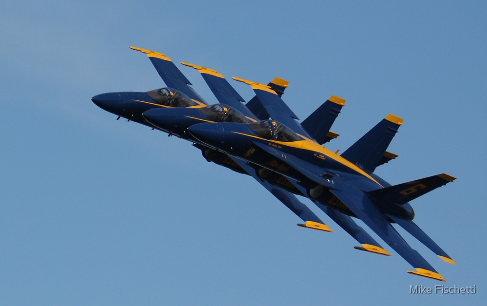 Blue Angles by Mike Fischetti
