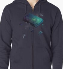 Constructing the Cosmos Zipped Hoodie