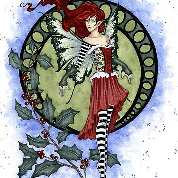 Holly Fairy by AmyBrownArt