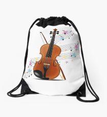 Violin music Drawstring Bag