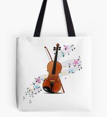 Violin music Tote Bag
