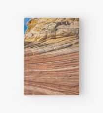 Waves and Stripes, Oranges and Yellow's Hardcover Journal