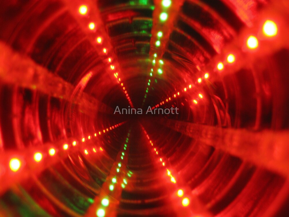 Abstract in Red and Green by Anina Arnott