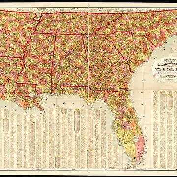 Garrison's map of Dixie (1909) by allhistory