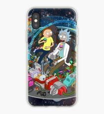 Vinilo o funda para iPhone Rick y Morty cortados