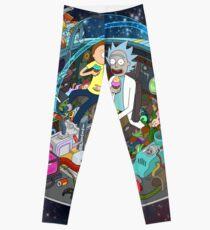 Rick and Morty cut-away Leggings