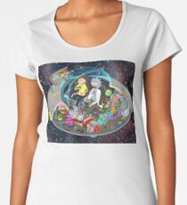 Rick and Morty cut-away Women's Premium T-Shirt
