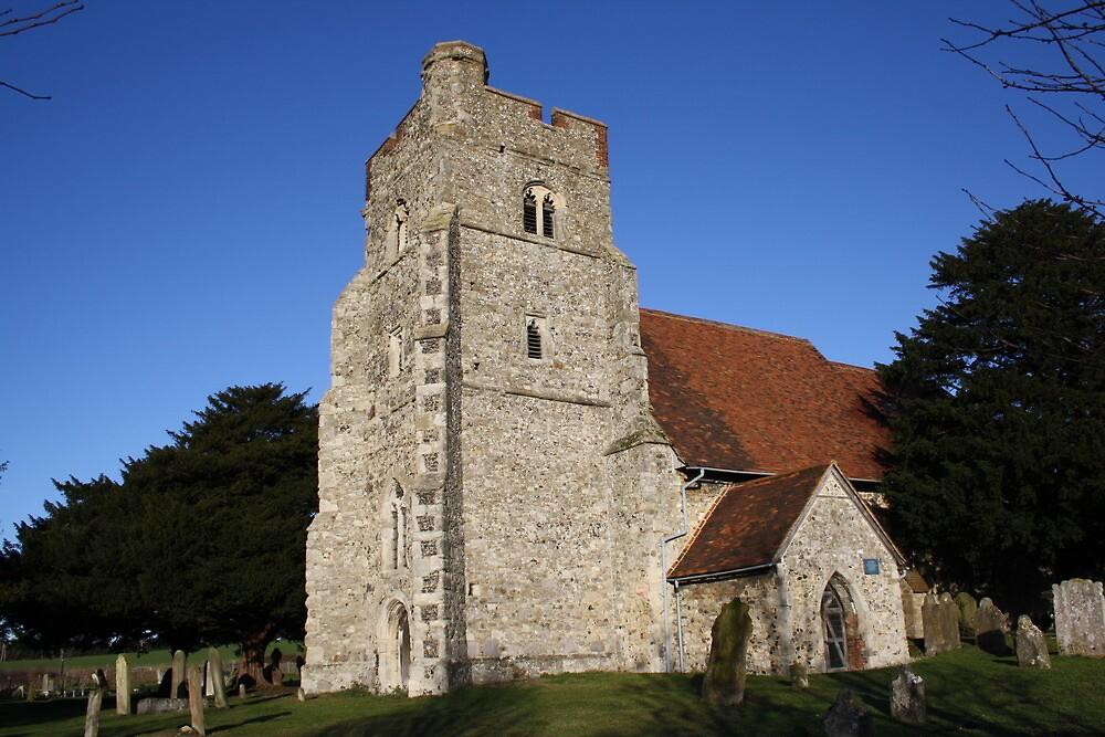 Blue Sky Over The Belltower by Dave Godden