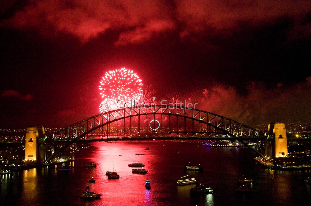 Red New Years Eve Sydney 2010 by Colleen Sattler