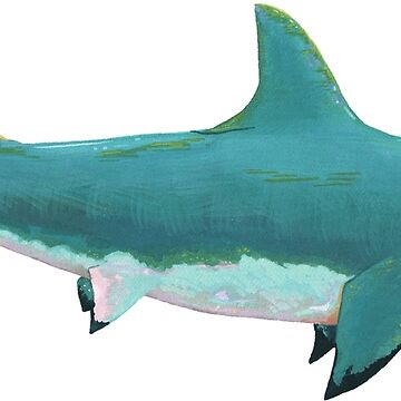 Turquoise Great White Shark by thecuriouswild