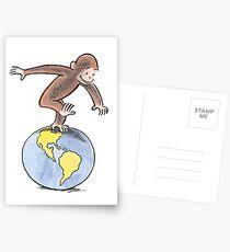 Postales Mono curioso